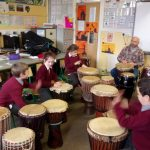 Drumming with Brian – Artists in School scheme